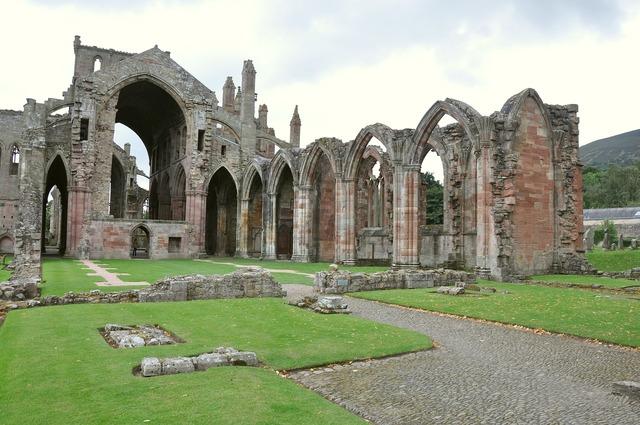 Melrose abbey united kingdom scotland.