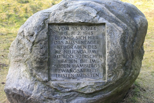 Memorial plaque persecution of jews konzentrationslager.