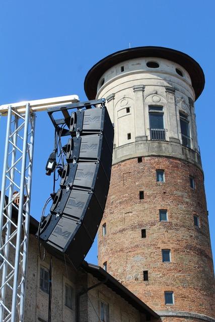 Merate tower of merate palazzo prinetti, music.