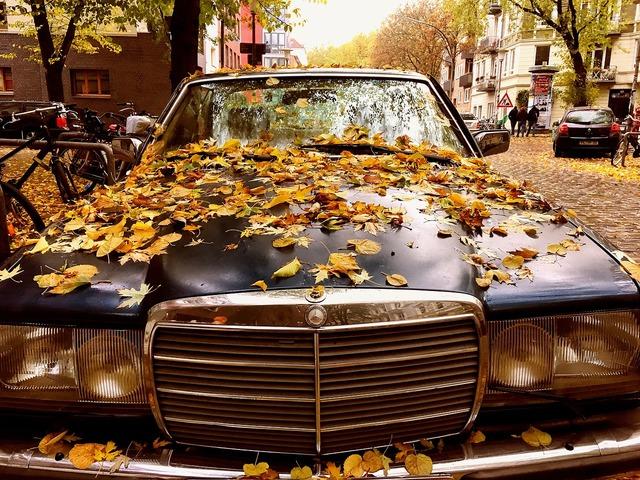 Mercedes retro oldtimer, transportation traffic.