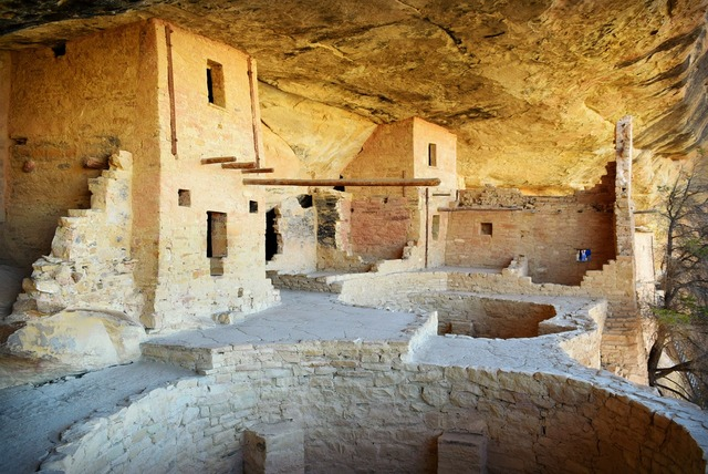 Mesa verde colorado, architecture buildings.