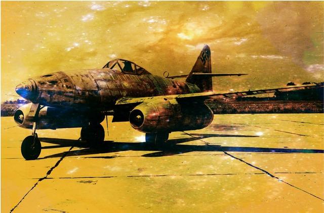 Messerschmitt me 262 jet.