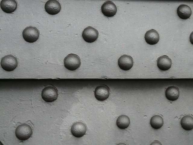 Metal iron rivet.