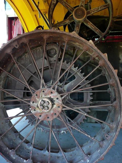 Metal tire rim.
