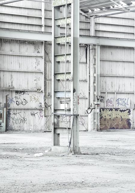 Metal warehouse loft, industry craft.