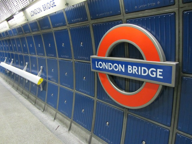 Metro station london bridge london.