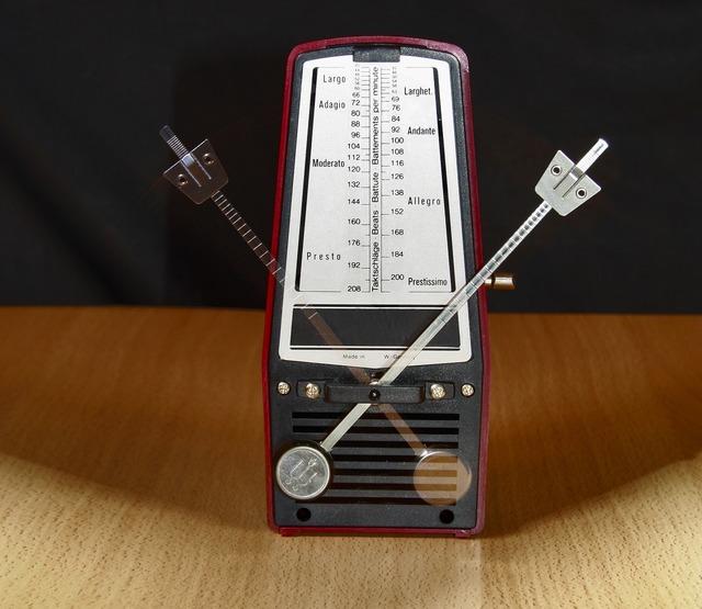 Metronome clock music, music.