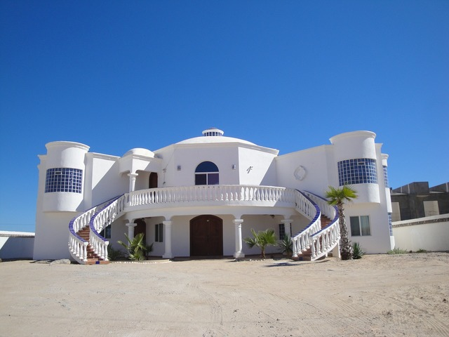 Mexico beach mansion, travel vacation.