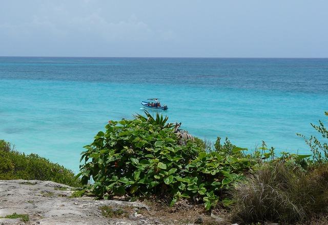 Mexico yucatan boat.
