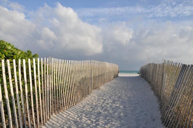 Miami beach fence, travel vacation.