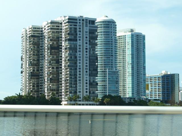 Miami building skyline, architecture buildings.
