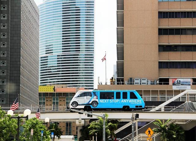 Miami miami noriel metromover hochbahn.