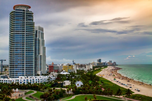 Miami skyscraper building, architecture buildings.