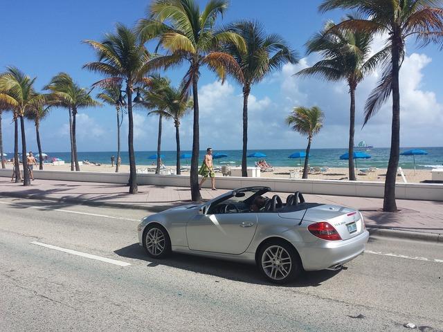 Miami usa beach, travel vacation.