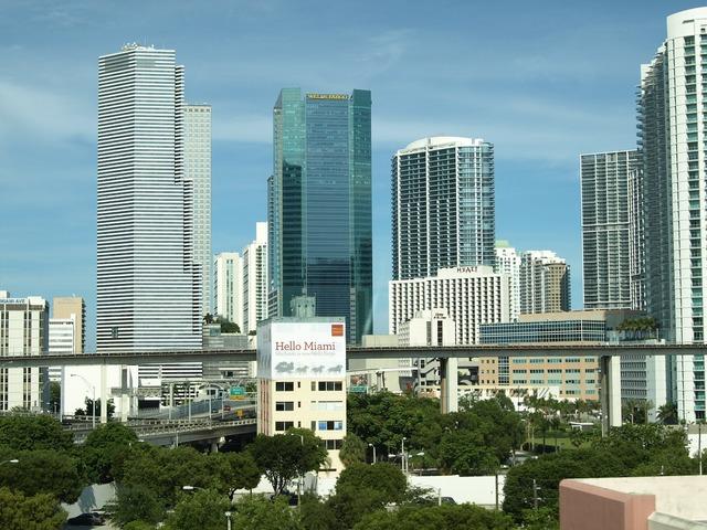 Miami usa florida, architecture buildings.