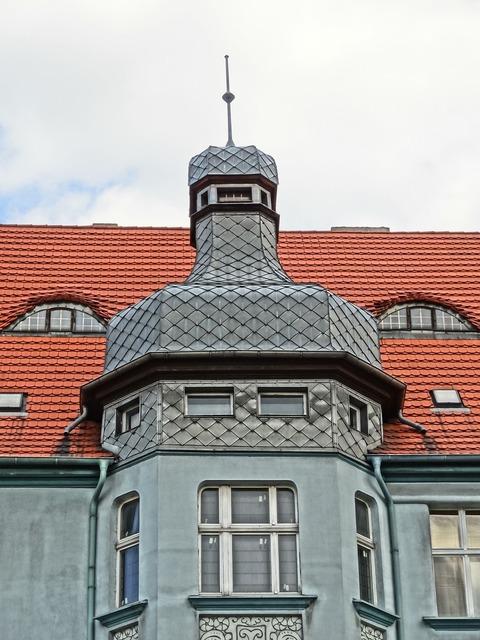 Mickiewicza street bydgoszcz turret, architecture buildings.