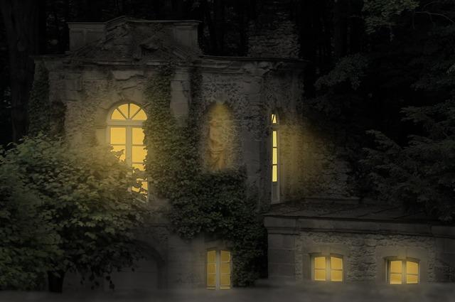 Middle ages castle light.