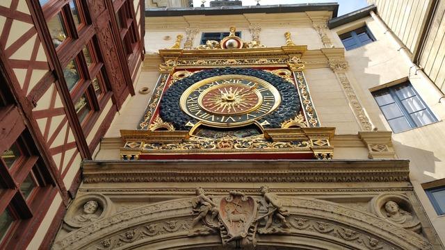 Middle ages clock rouen.