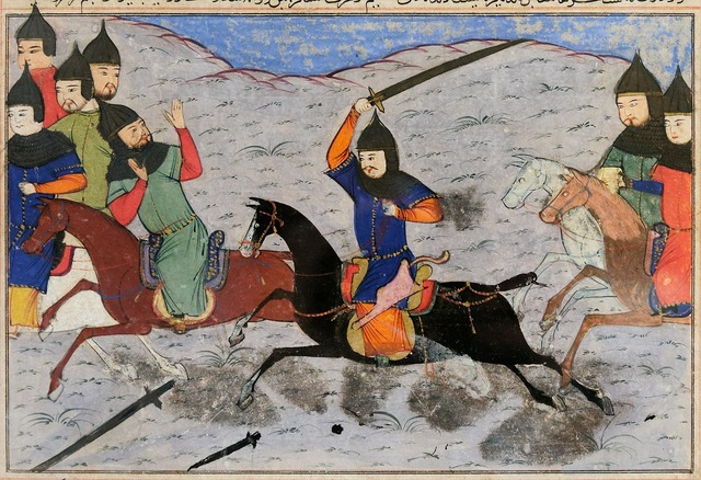 Middle ages sword fighting reiter.