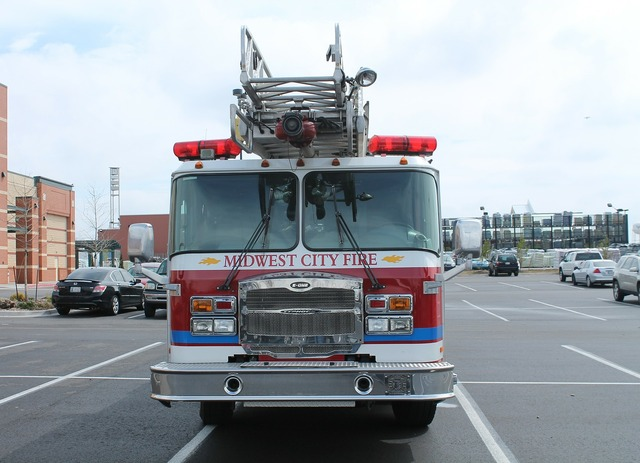 Midwest city oklahoma fire truck, transportation traffic.