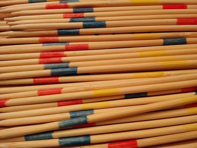 Mikado chopsticks bamboo, backgrounds textures.