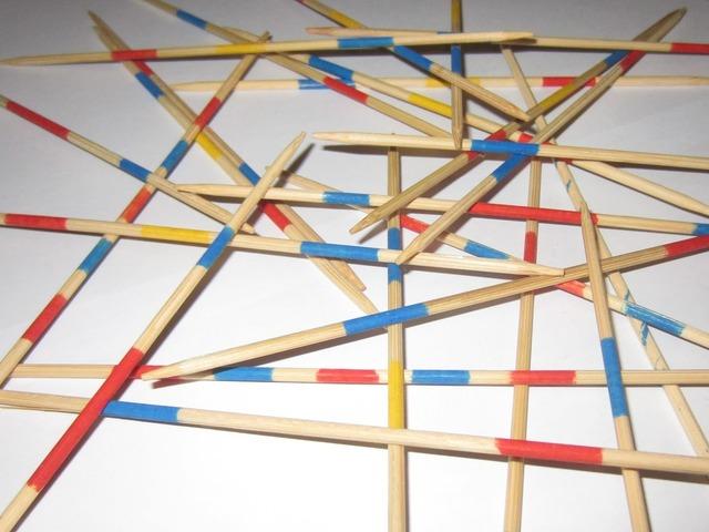 Mikado chopsticks networking, backgrounds textures.