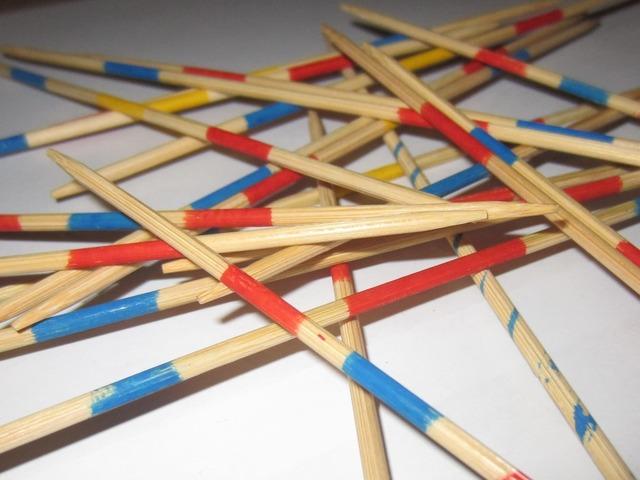 Mikado wooden sticks bars, backgrounds textures.