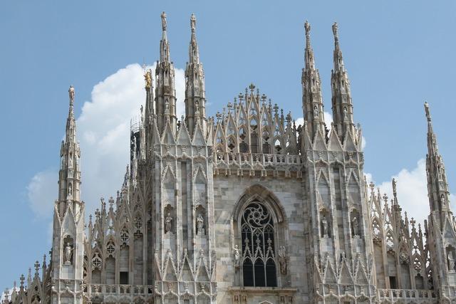 Milan dom architecture, architecture buildings.