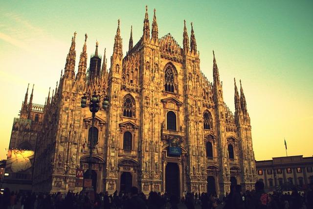 Milan duomo monument, architecture buildings.
