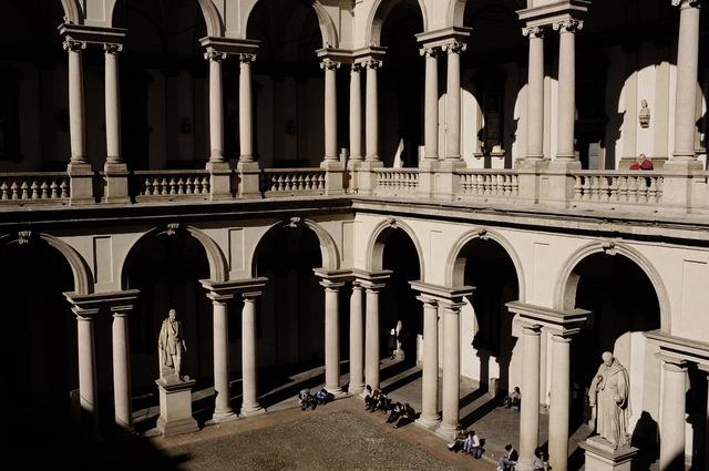 Milan italy pinacoteca di brera.
