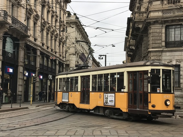 Milan italy tram.