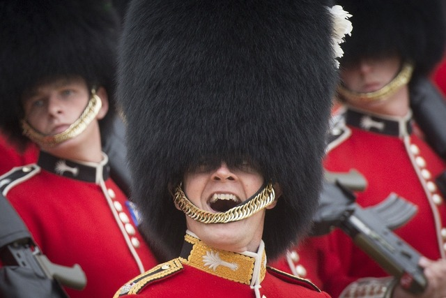 Military army foot guards.