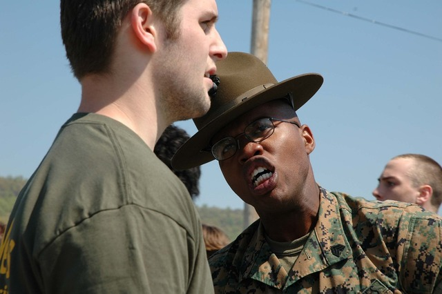 Military drill instructor instructions.