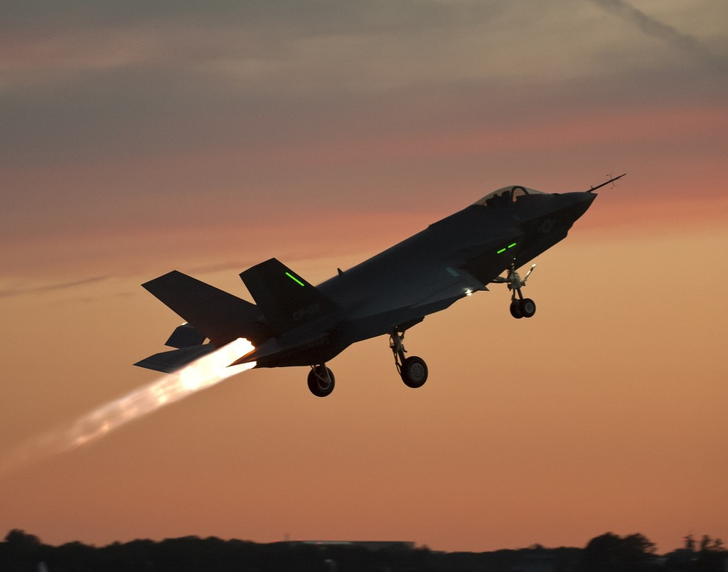 Military fighter jet test flight, travel vacation.