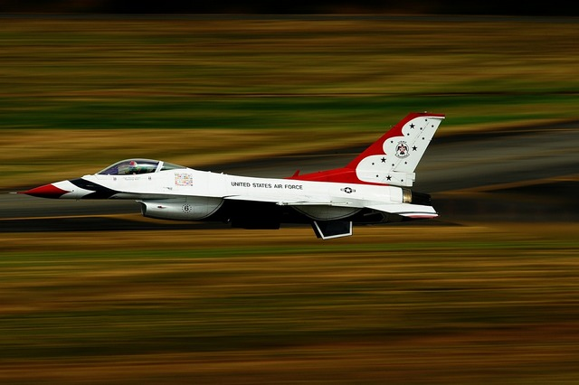Military jet aircraft take off.