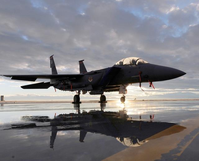 Military jet airplane.