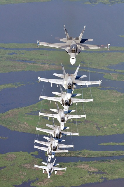 Military jet formation precision aircraft.