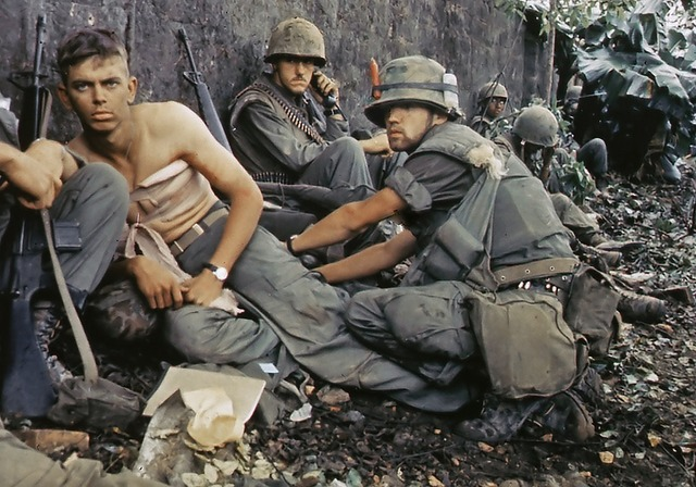 Military vietnam war us soldier wounded, people.