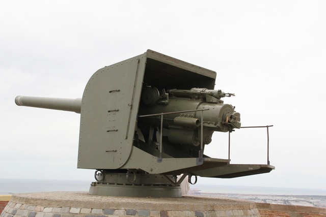 Military weapon cannon.