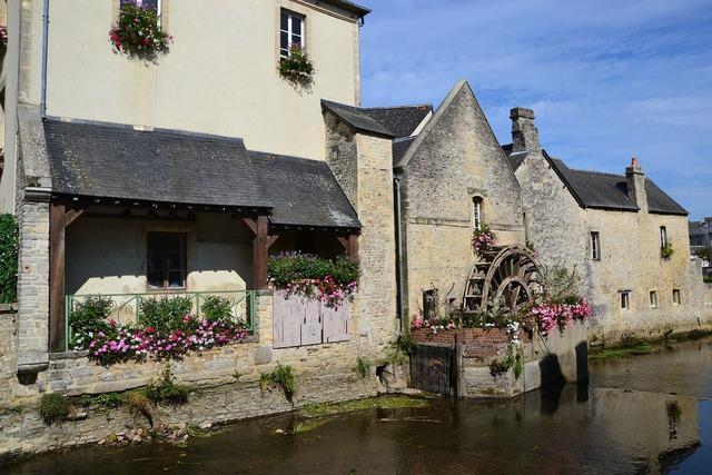 Mill facade fleurie river.