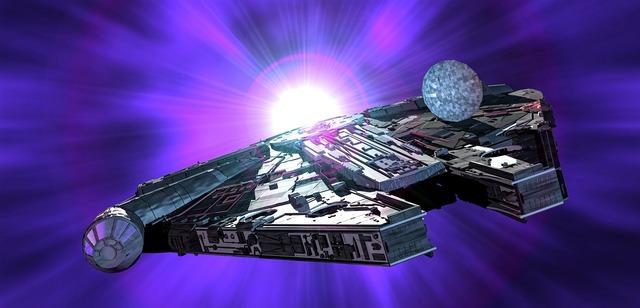 Millennium falcon star wars spaceship.