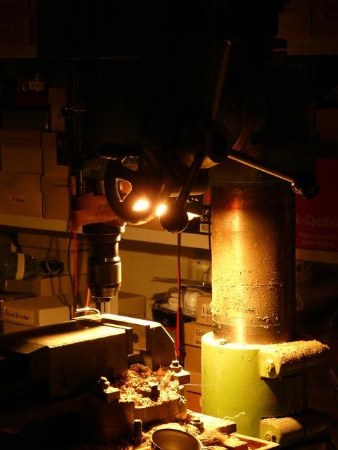 Milling machine drilling drill.