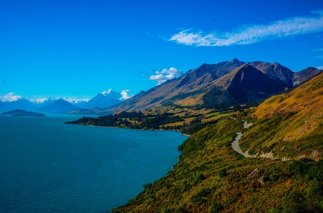 Million dollar view queenstown new zealand, nature landscapes.