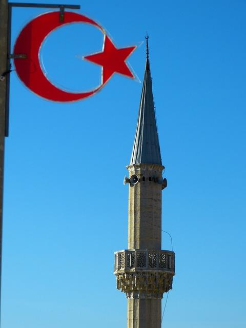 Minaret mosque house of prayer.