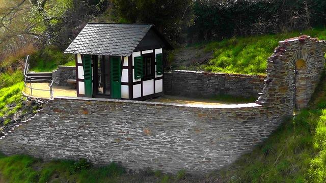 Mini castle castle wall, architecture buildings.