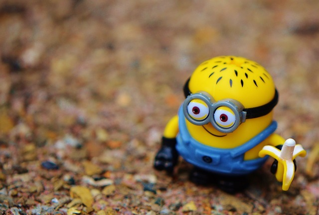 Minion funny toys, food drink.