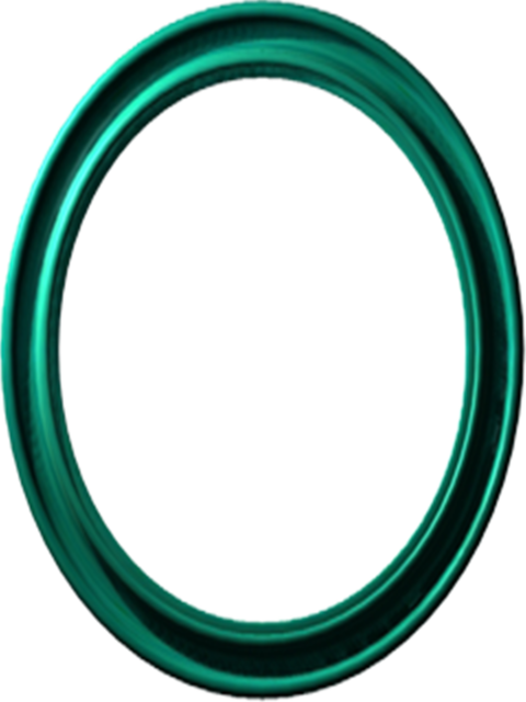 Mirror green frame.