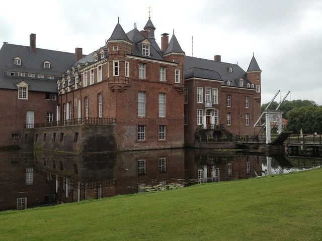 Moated castle anholt germany, architecture buildings.