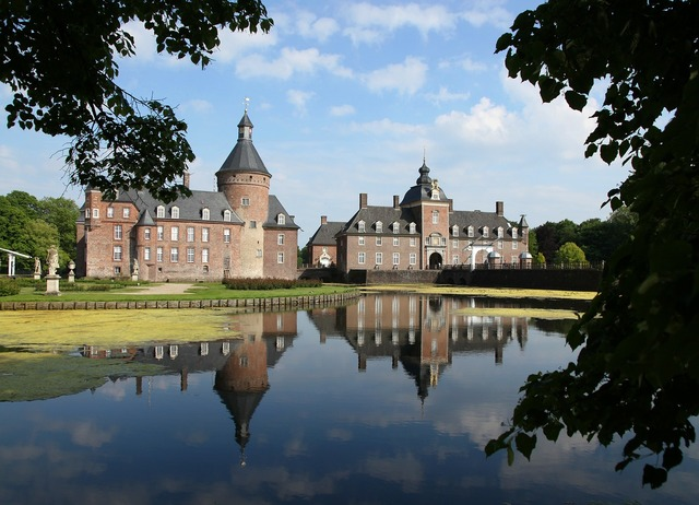 Moated castle anholt towers.