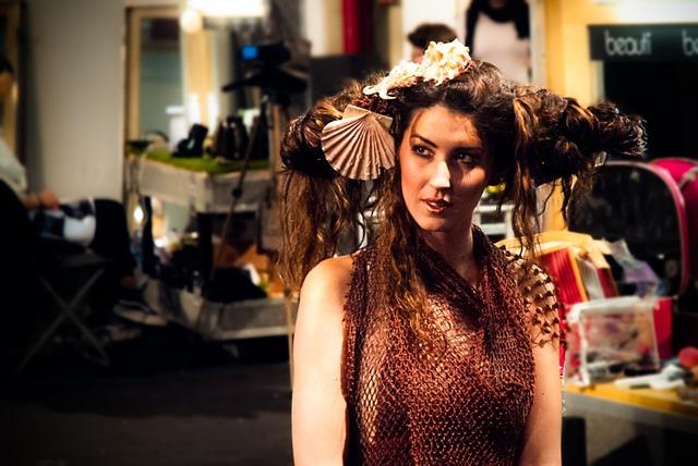 Model hair expocosmética, beauty fashion.